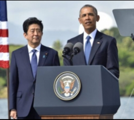 Obama e Abe homenageiam vítimas do ataque a Pearl Harbor